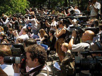 Media in Central Park New York City