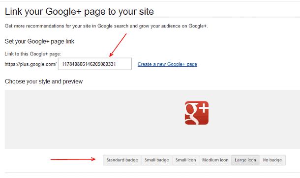 Google+ website badges