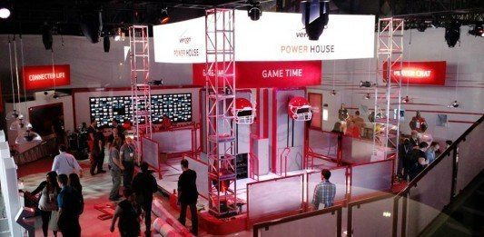 Verizon Power House at Super Bowl Central