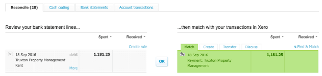 xero transaction reconciliation